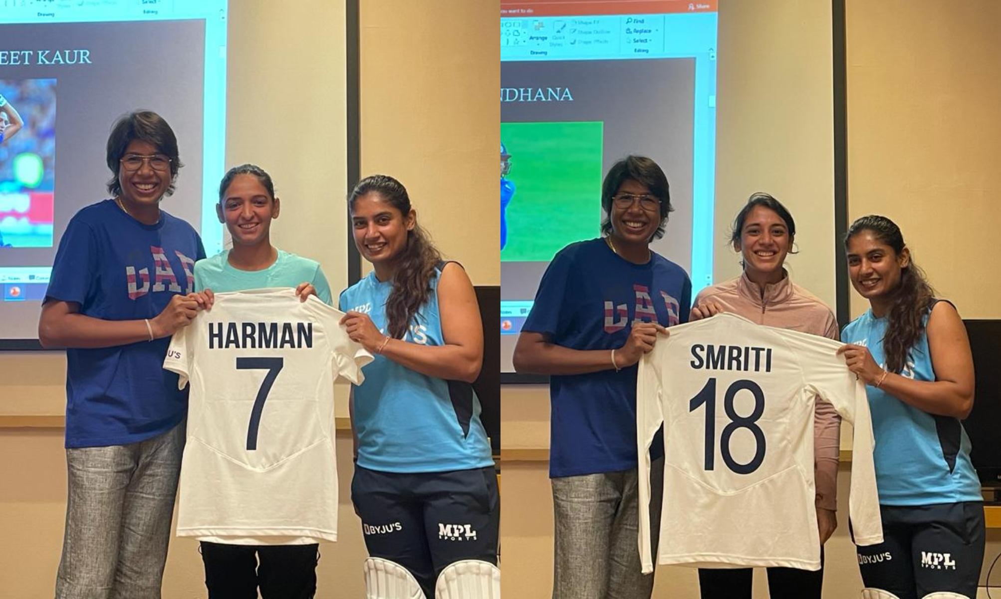 Harmanpreet Kaur and Smriti Mandhana receive their Test jerseys | BCCI