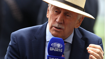 Ian Chappell honoured by Channel 9 for completing 40 years of commentary with the broadcaster