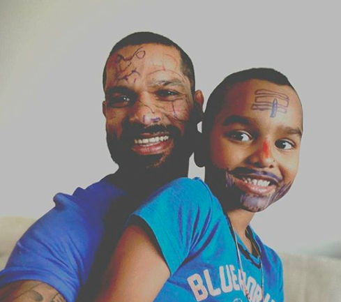 Dhawan and Zoravar having great time at home during lockdown | Instagram