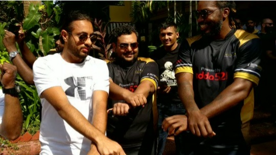 WATCH: Chris Gayle is having a gala time at Goa away from cricket