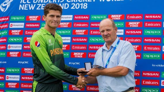 Shaheen Afridi picked up two wickets in the match. (Getty)