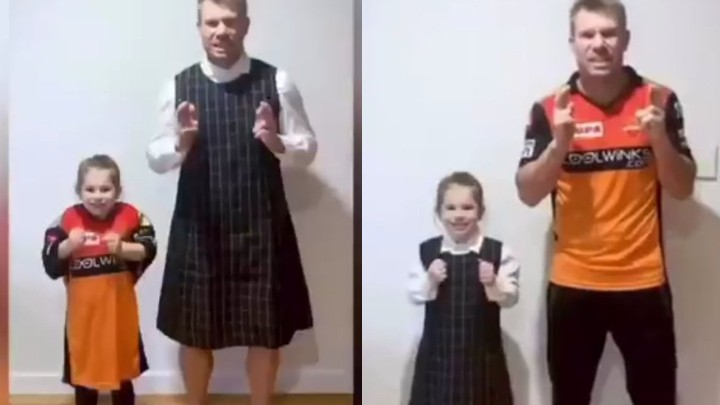 WATCH: David Warner competes with daughter on TikTok; asks fans to decide the winner