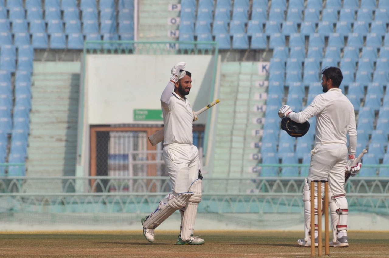 Pujara and Jackson added 201* for 4th wicket