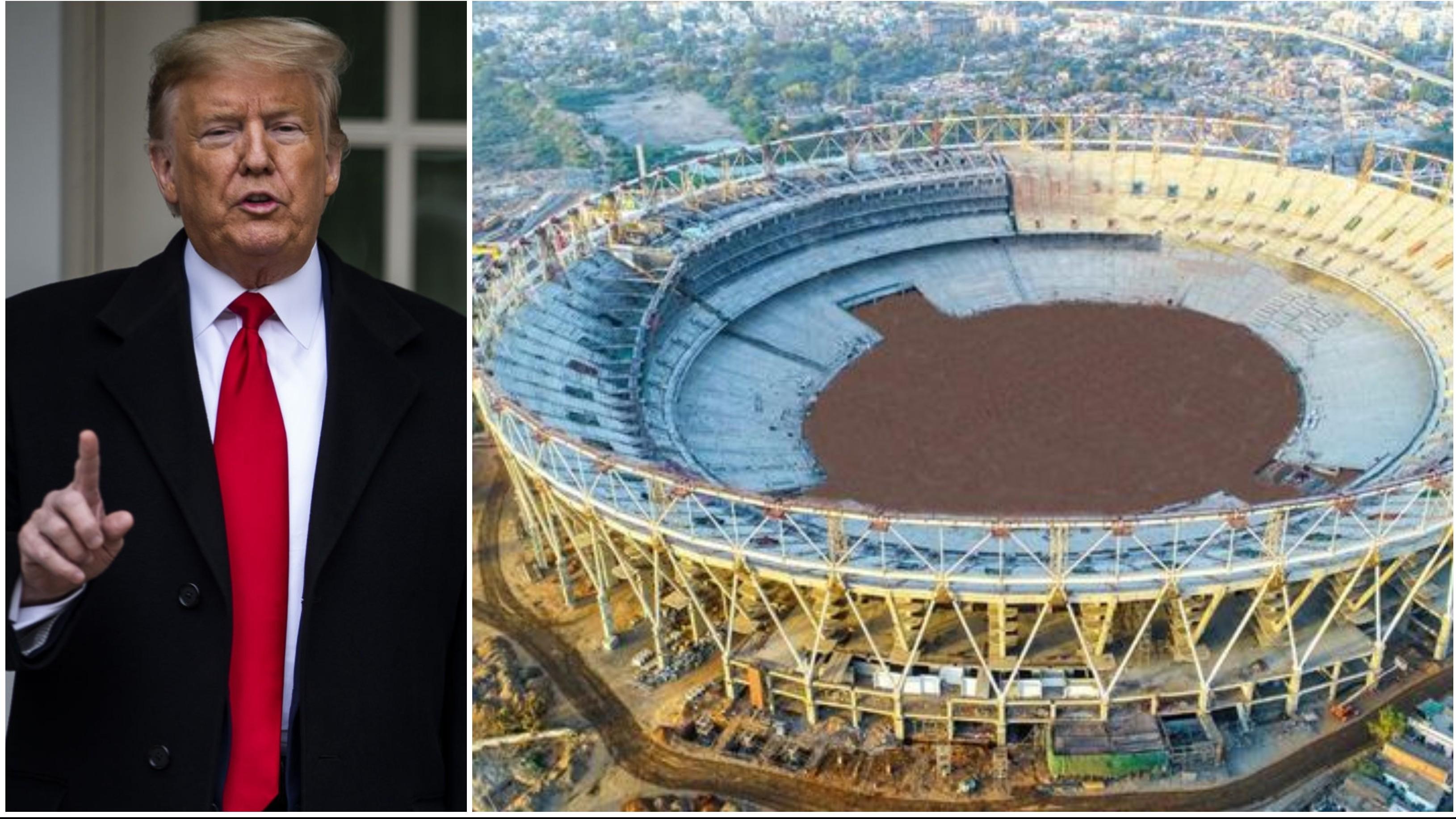 डोनाल्ड ट्रम्प करेंगे अहमदाबाद में दुनिया के सबसे बड़े क्रिकेट स्टेडियम का उद्घाटन