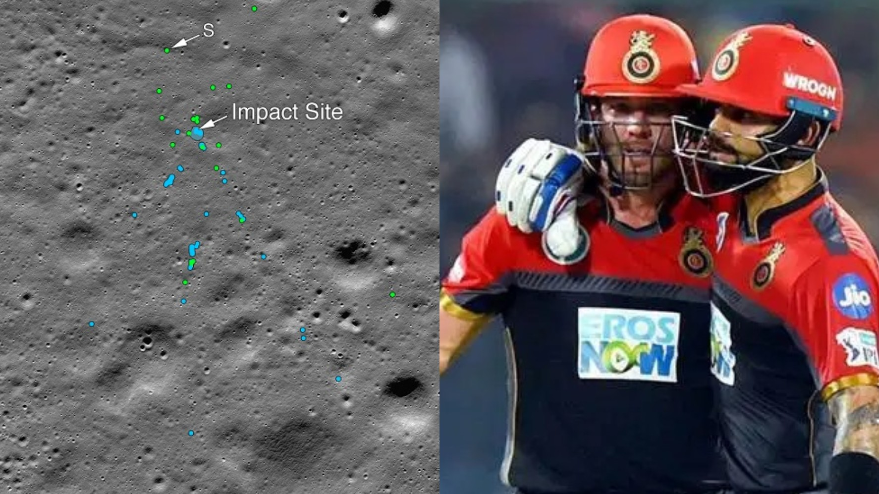 RCB requests NASA to find balls hit by Kohli and De Villiers after congratulating them for locating Vikram Lander
