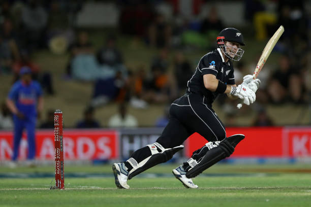 Man of the Match Henry Nicholls scored 80 runs against India in third ODI. (photo - Getty Images)