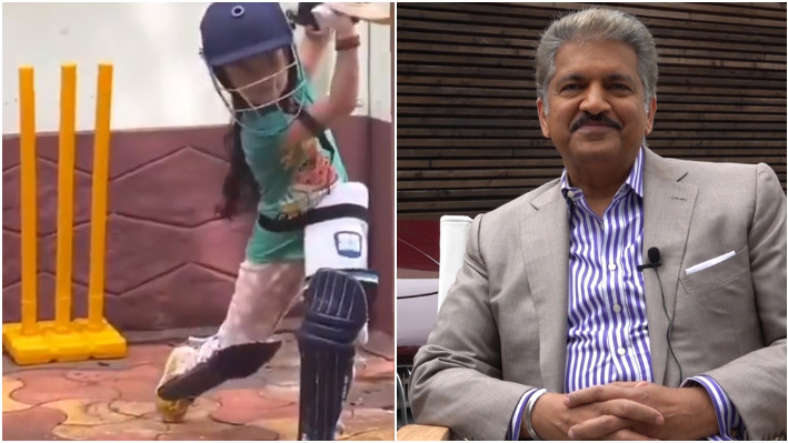 Anand Mahindra calls a six-year-old girl India's future superstar for her batting