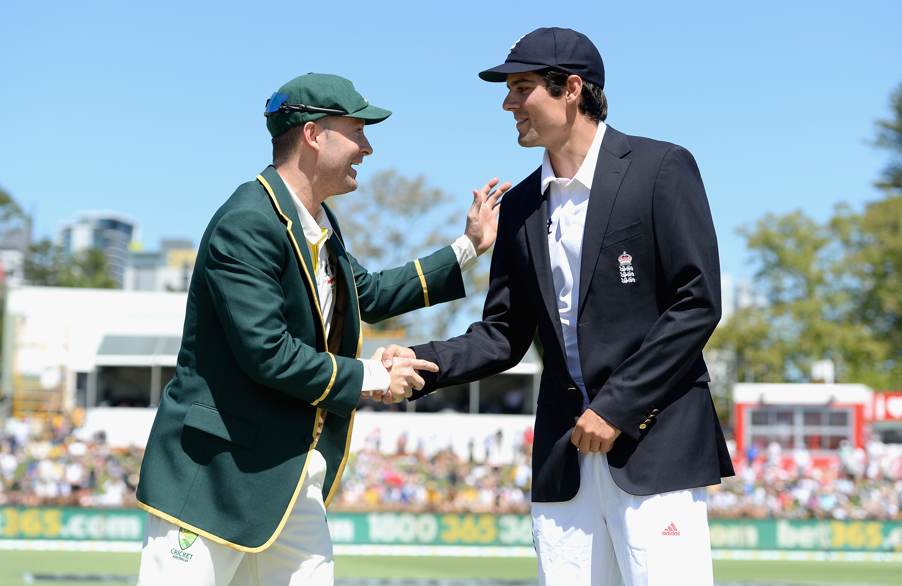 Michael Clarke and Alastair Cook | Getty
