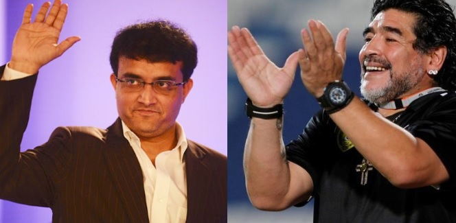 Sourav Ganguly and Diego Maradona | GETTY Images