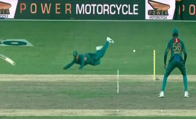 Fakhar Zaman produced one of the great run-outs | Screengrab