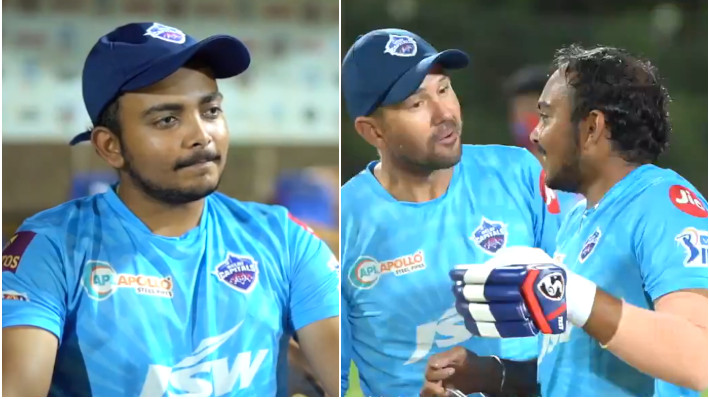 IPL 2021: WATCH - Prithvi Shaw says Ricky Ponting's speech should have Chak De India's background music
