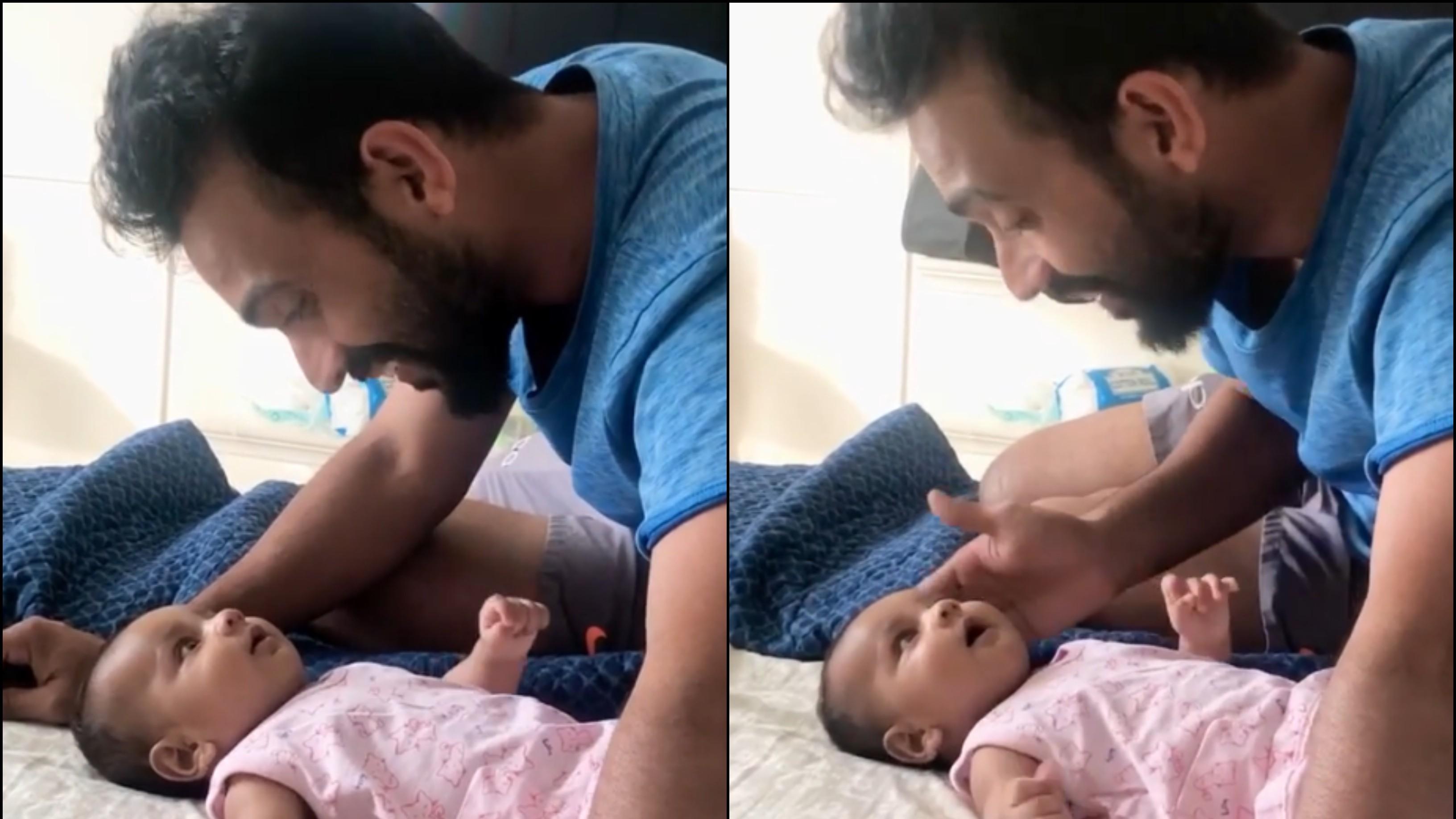 अजिंक्य रहाणे ने बेटी आर्या के साथ मस्ती का वीडियो किया पोस्ट