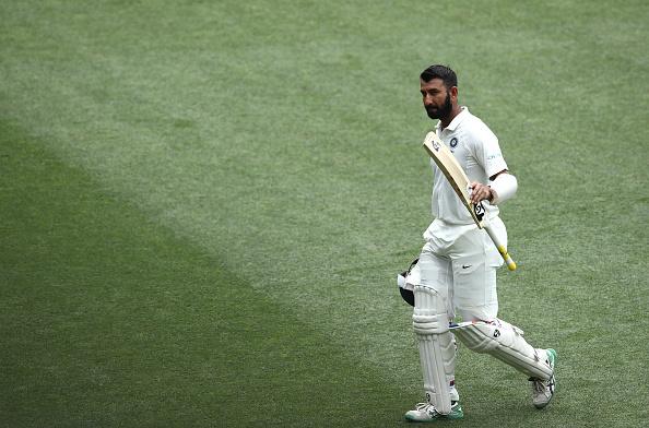Border praised Cheteshwar Pujara's innings of 123 and 71 in Adelaide Test | Getty Images