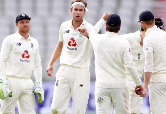 Broad helped England continue dominating the third Test | AFP