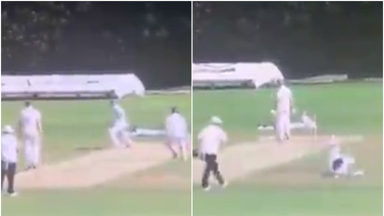 WATCH: A never-seen-before mix-up between batting partners leads to a funny run-out