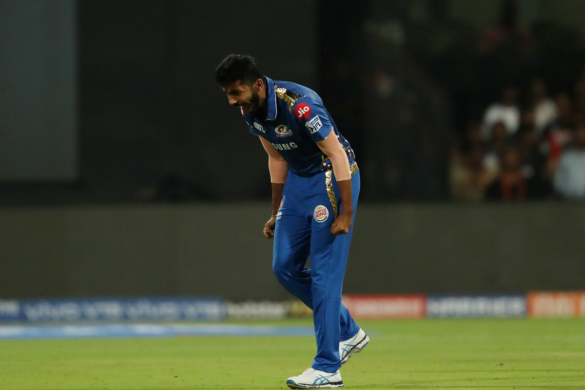 Bumrah was outstanding with the ball against RCB (Pic. source: Mumbai Indians/Twitter)