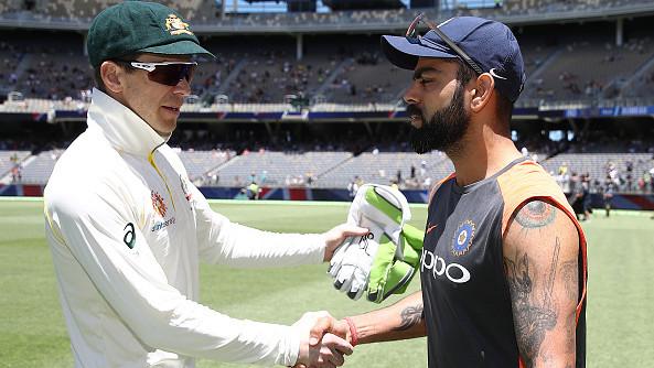 AUS v IND 2018-19 : विराट कोहली और टिम पैन को मैच के बाद हैंडशेक करने के दौरान की मिली विषम प्रतिक्रियाएं