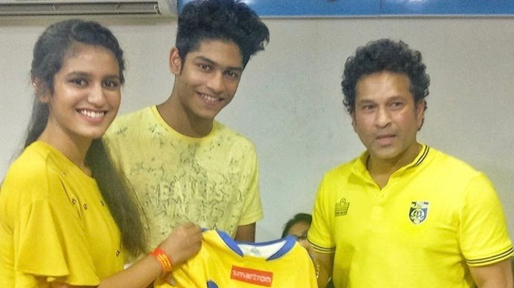 Watch: Priya Prakash Varrier watches ISL match with Sachin Tendulkar