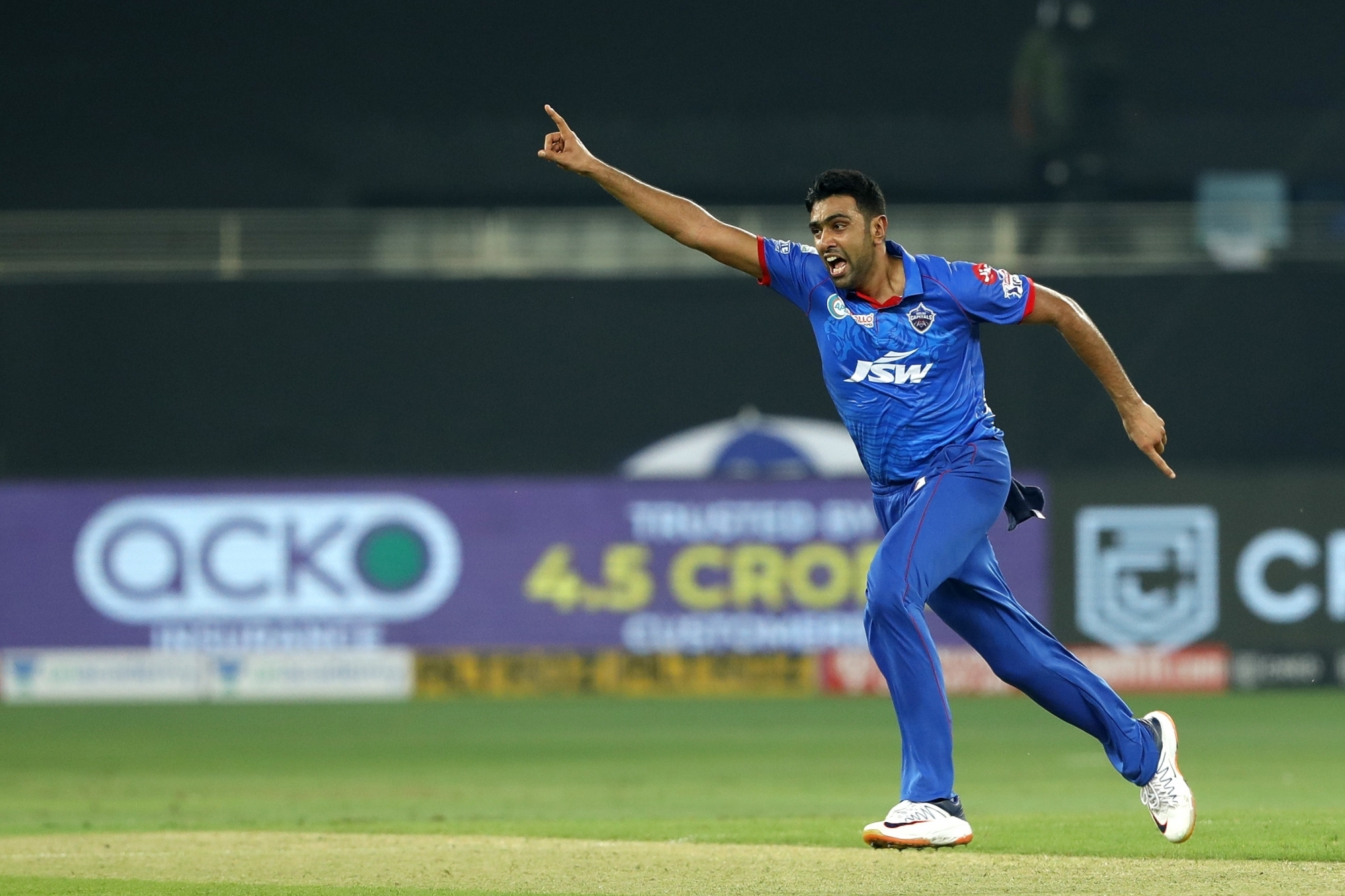 Man of the Match R Ashwin took 2 wickets against RR in Sharjah. (Photo - IANS)