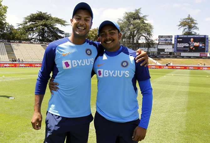Shaw and Mayank added 50 runs for the first wicket | Twitter