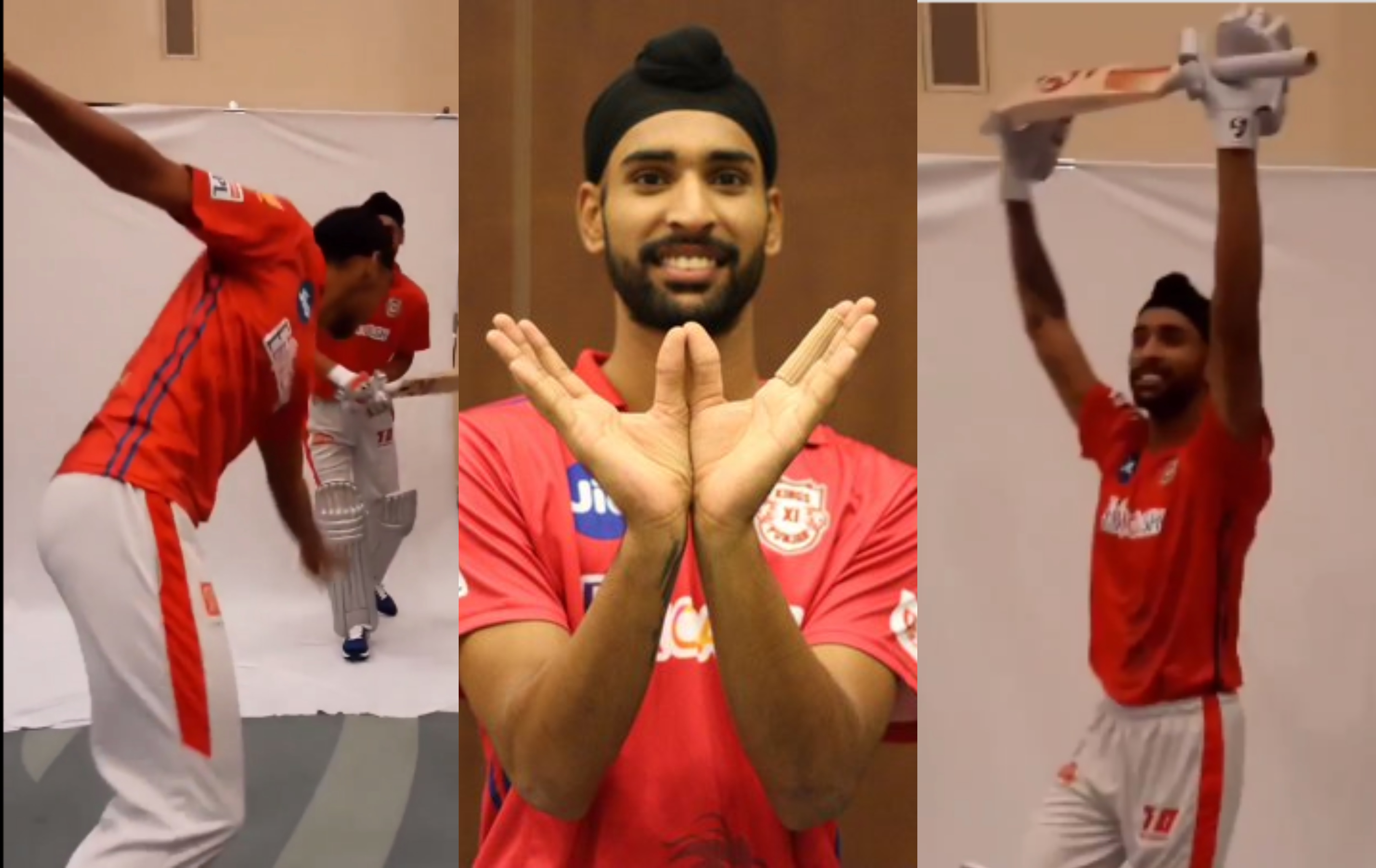 KXIP shared a fund video of Arshdeep Singh and Harpreet Singh | KXIP Instagram/Twitter