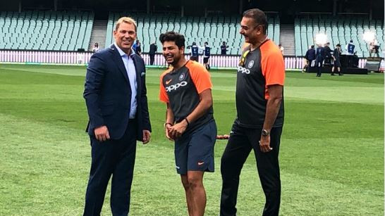 AUS v IND 2018-19: It's been a pleasure to work with you Kuldeep, says Shane Warne
