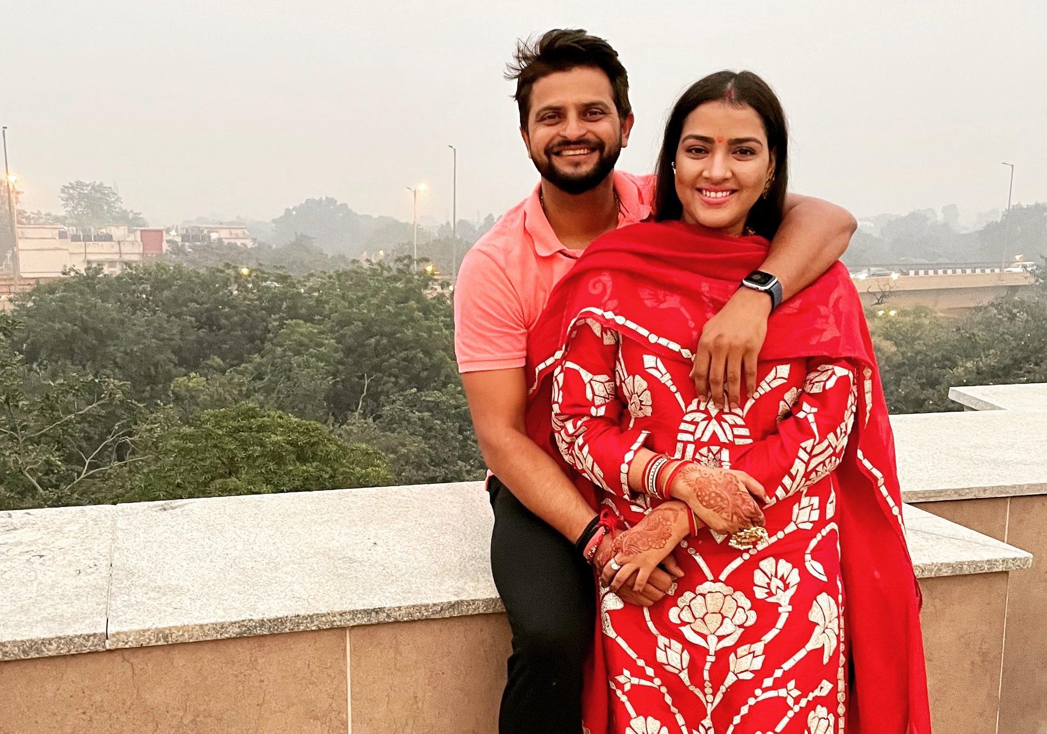 Suresh Raina with his wife Priyanaka   Twitter