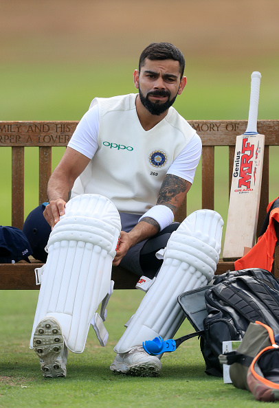 Virat Kohli during a nets session at Edgbaston | Getty