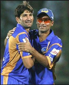 Mohammad Kaif and Sohail Tanvir for Rajasthan Royals in IPL 2008