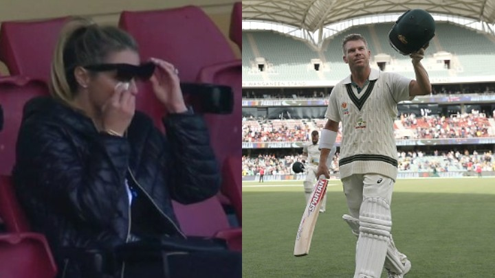 AUS v PAK 2019: Candice Warner couldn't hold her tears after husband David Warner reached triple ton