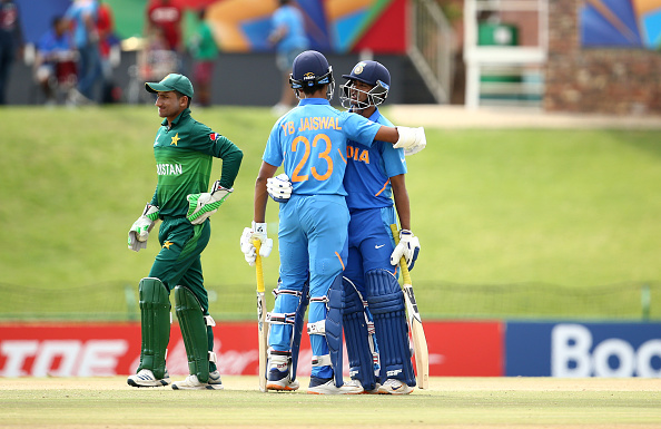 Jaiswal and Saxena added an unbeaten 176-run for the opening wicket to take India over the line   Getty