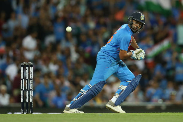Rohit Sharma scored 85 runs off just 43 balls in Rajkot T20I against Bangladesh. (photo - getty)