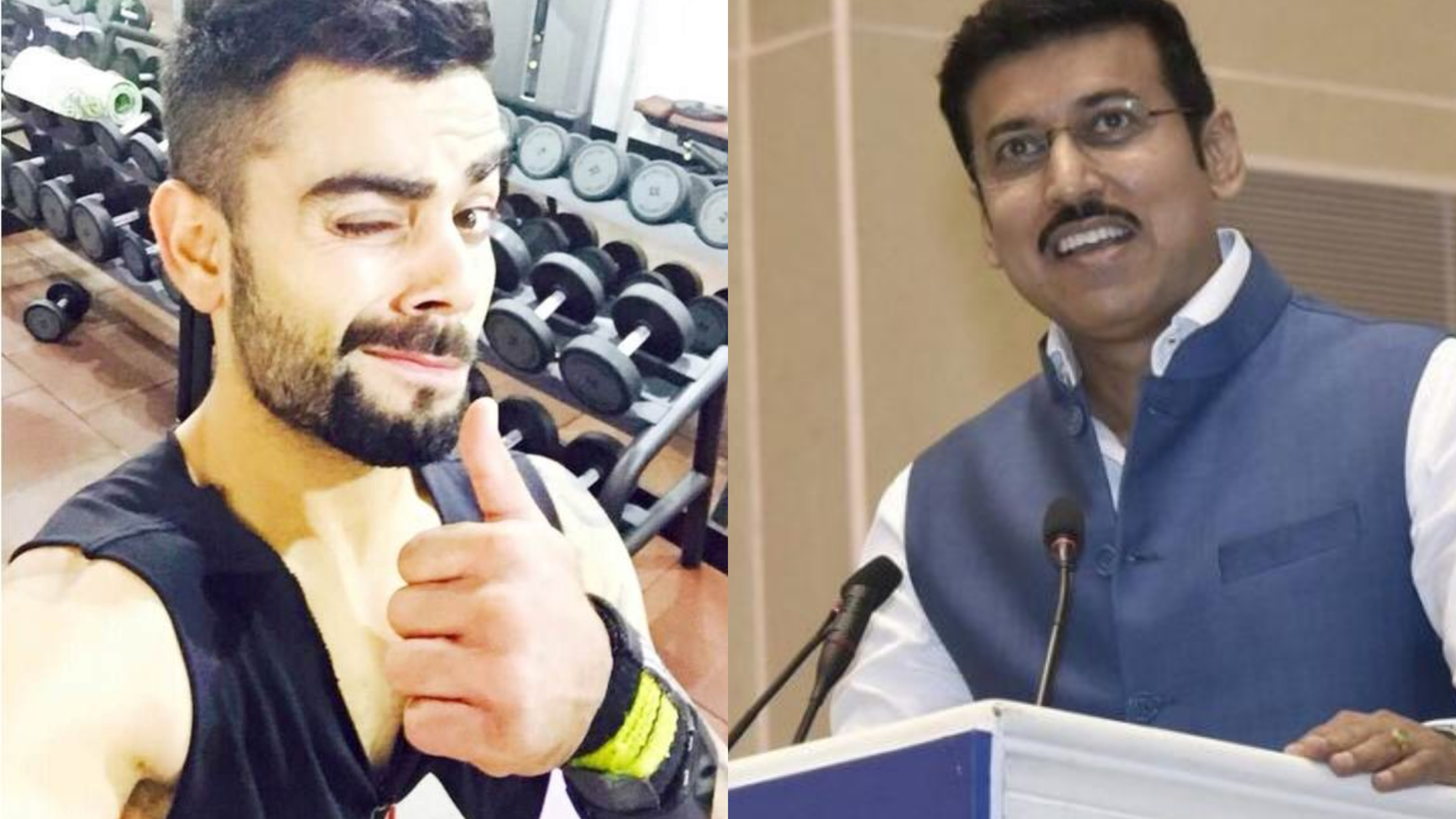 Rajyavardhan Singh Rathore throws Fitness Challenge to Virat Kohli on Twitter