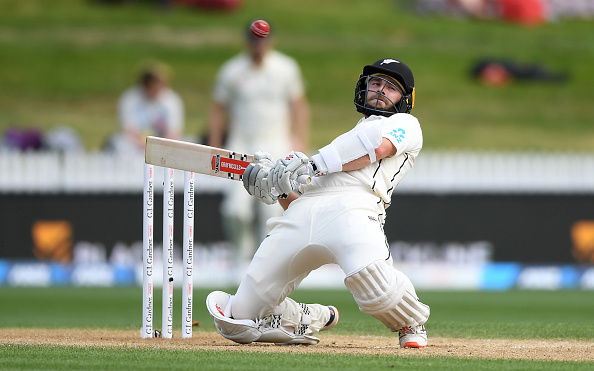 Kane Williamson ducks under the bouncer | Getty Images