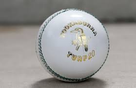 Kookaburraa's new 'Turf20' ball. (Cricket.com.au)
