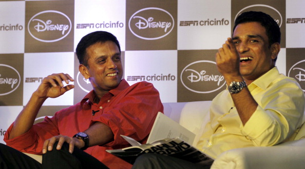 Sanjay Manjrekar and Rahul Dravid | GETTY