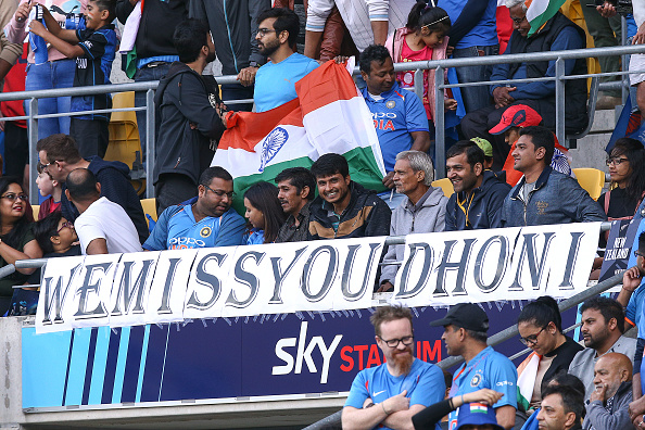 MS Dhoni fans | GETTY