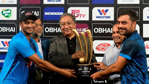 Bangladesh, Afghanistan share title as rain washes out T20I tri-series final in Dhaka