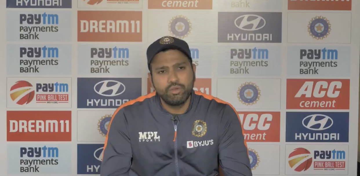 Rohit Sharma during his virtual press conference | BCCI video screengrab