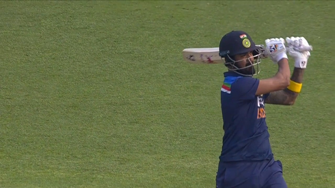 KL Rahul during the 1st ODI against England | BCCI Screengrab