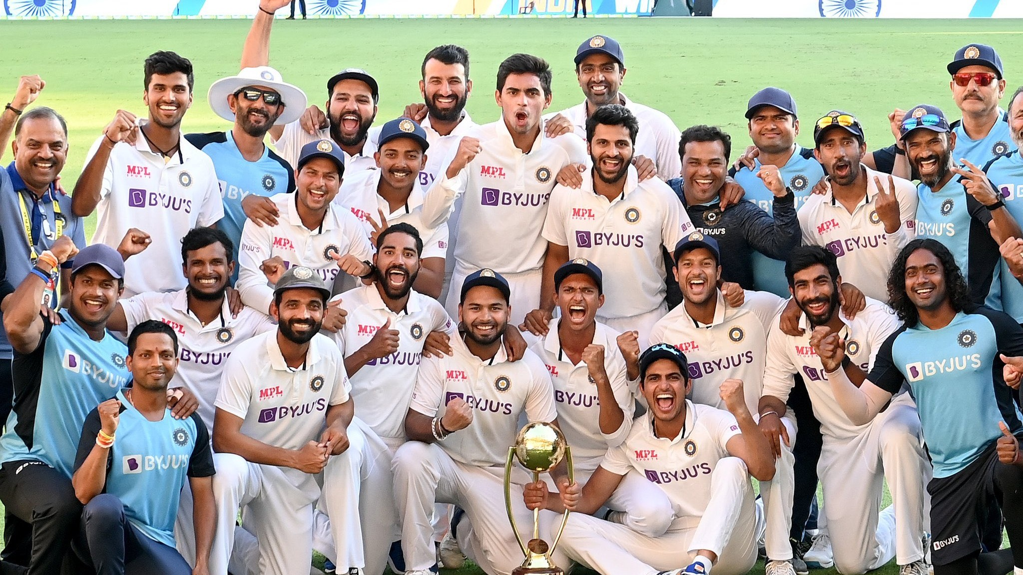 AUS v IND 2020-21: Elated Team India members share their joy and happiness after winning Test series