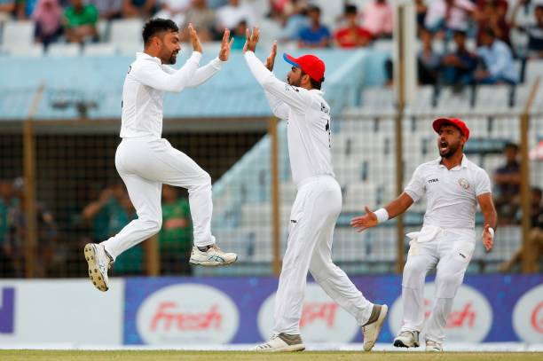 Rashid Khan took 11 wickets in one off the Test against Bangladesh in Chattogram. (photo - getty)