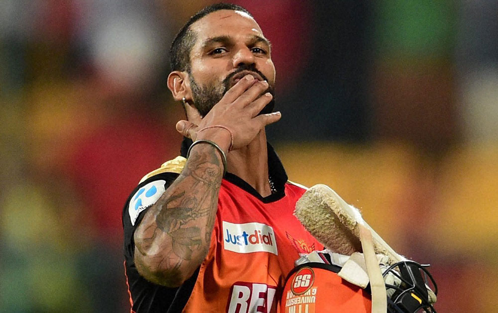 Shikhar Dhawan | Source Getty