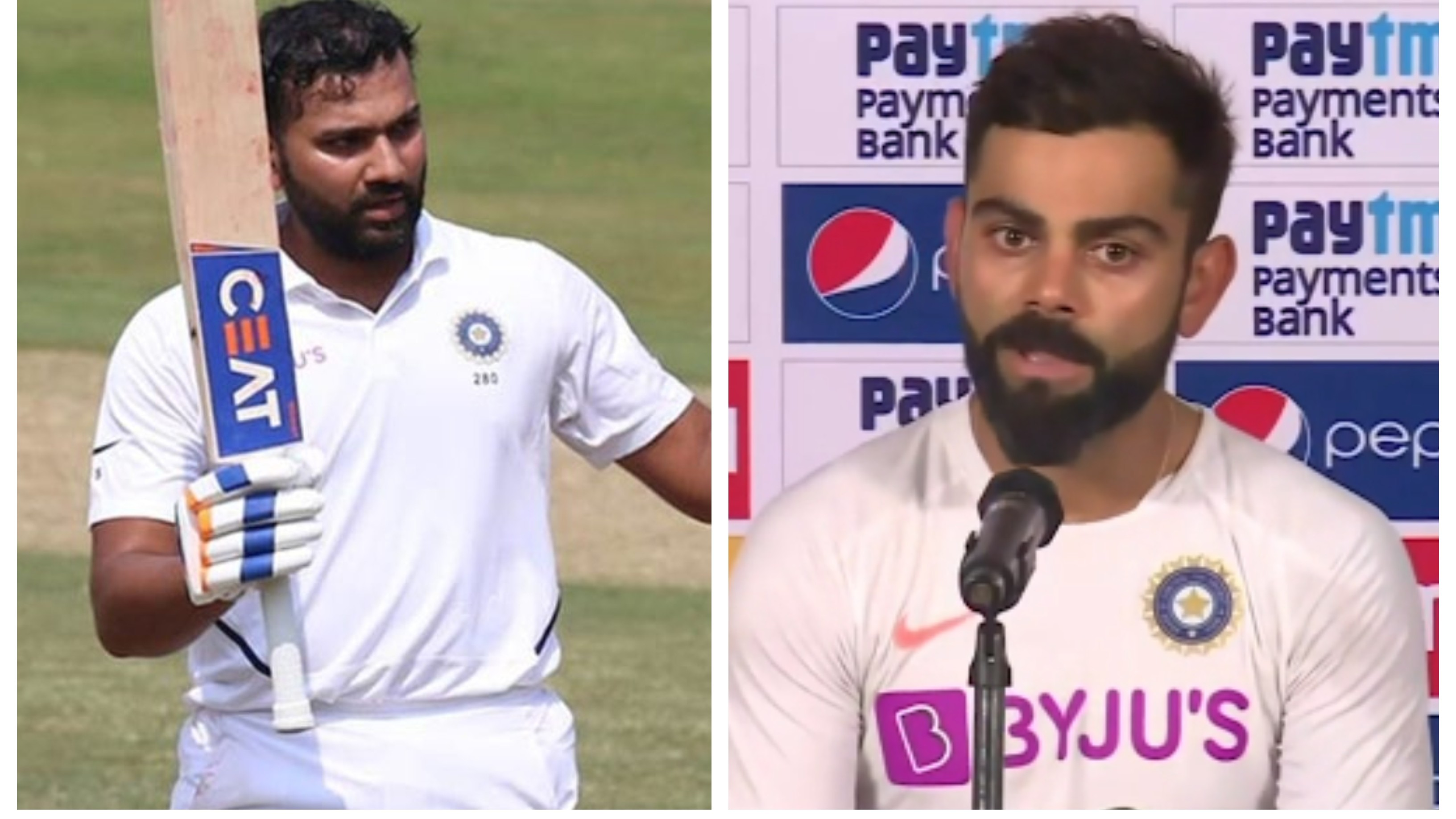 "IND v SA 2019: WATCH – ""Rohit is feeling at home at the top of the order"", says Kohli ahead of Pune Test"