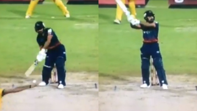WATCH: Rashid Khan plays the Helicopter Shot in the T10 league