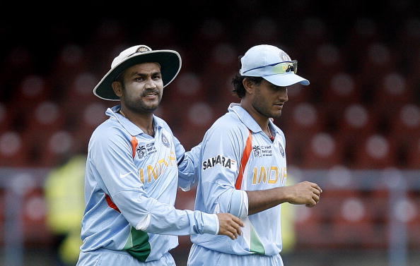 Virender Sehwag and Sourav Ganguly | Getty