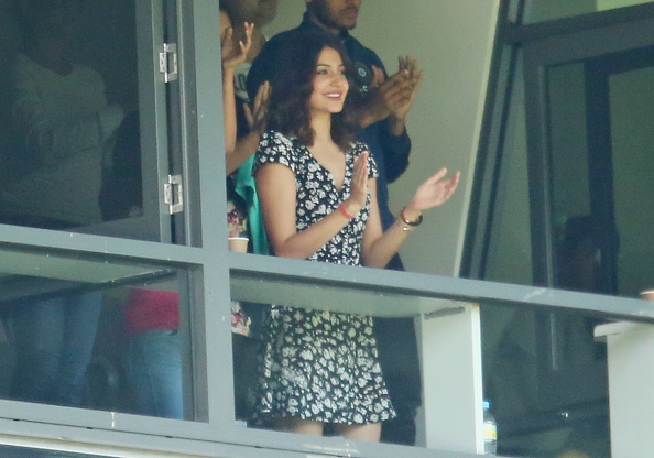 Anushka Sharma cheering for Virat Kohli in Melbourne back in 2014 | GETTY