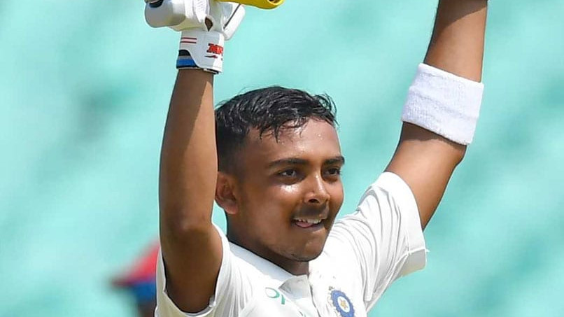 IND v WI 2018: Prithvi Shaw's Test hundred cost Swiggy and FreeCharge rupees 1 crore