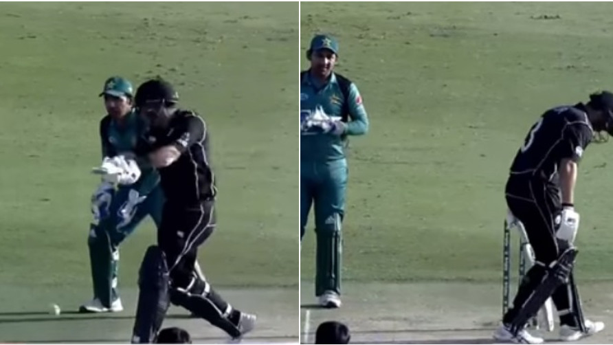 PAK v NZ 2018: WATCH- Ross Taylor's embarassing moment when he couldn't connect to the easiest delivery ever bowled
