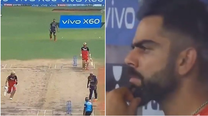 IPL 2021: WATCH - Andre Russell gives away an easy run-out of Kyle Jamieson; Virat Kohli surprised